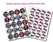 INSTANT DL-Monster High Cupcake toppers- (Set of 2) Printable Birthday party Package