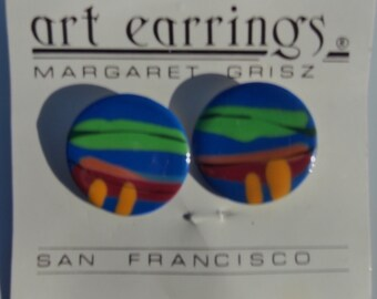 Beautiful Ceramic Post Earrings Designed By Margaret Grisz