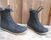 Hand-felted boots NOIRE