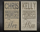 His and Her Wedding Vow Canvas Art. Set of Two Custom Wall Art- Decorations for wedding too