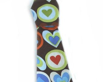 Dog Necktie, Detachable, Valentines Day, Dog Tie, Dog Clothes - Blueberry Hearts