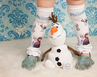 Frozen Inspired leg warmers or Leggings