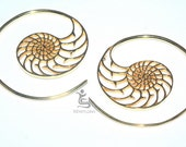 Bali Brass Gauges earrings  BPR102