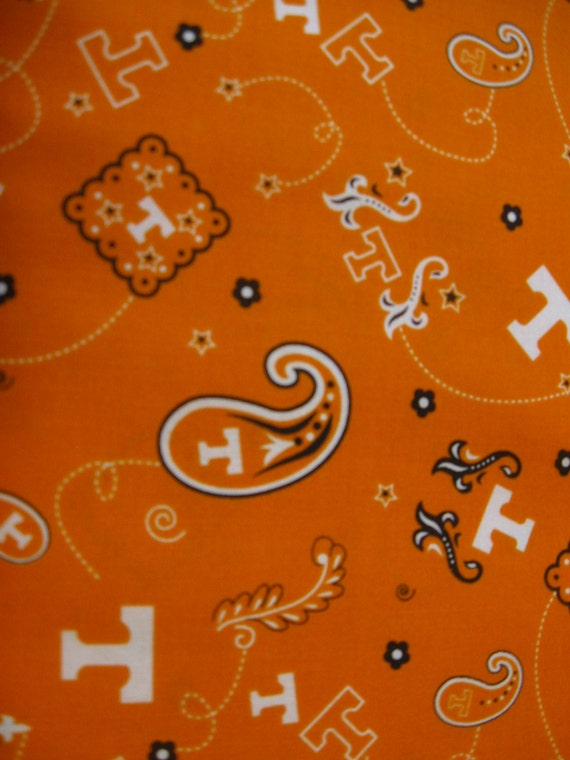 university of tennessee bandana fabric sold by hisandhersfabrics. Black Bedroom Furniture Sets. Home Design Ideas
