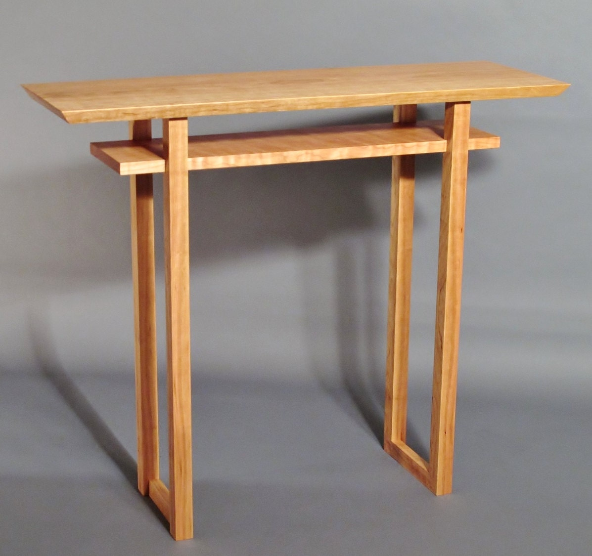Narrow Side Table Handmade Custom Wood Furniture Minimalist