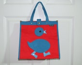 Vintage 80s Pacesetter Baby Chick Canvas Tote Bag & Coin Purse w/Original Tags