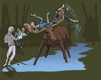 Moose Vs. Zombies