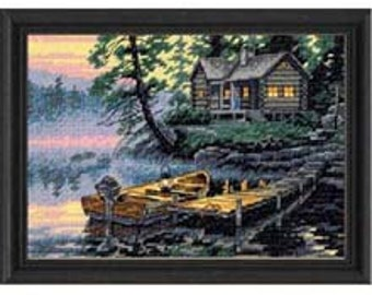 Cross Stitch Kit - Morning Lake