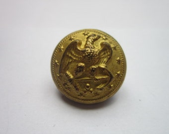 Antique Real 19th century Jacob Reeds Sons Federal Naval Military Brass Button Eagle over Anchor  Phila Nice