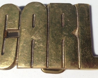 Vintage Carl Name Belt Buckle - Gift Idea for him - For Dad - Personalized