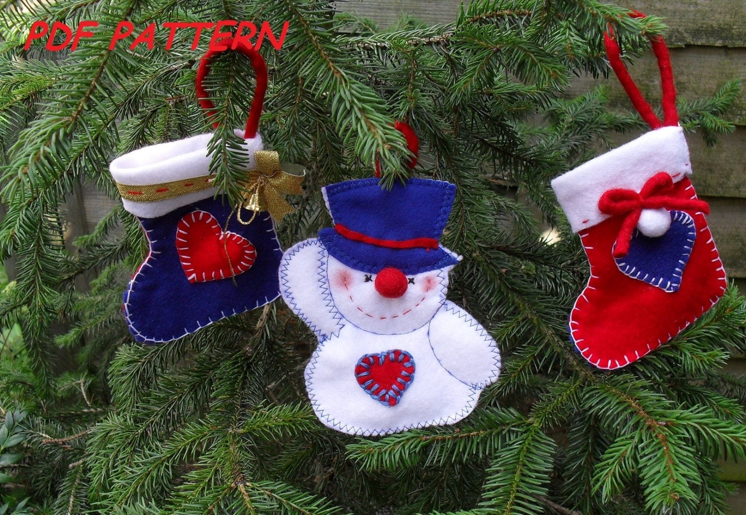 Felt Christmas Tree Ornaments Sewing Pattern Pdf How To Make