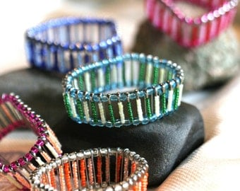 Safety Pin Bracelet - Upcycled - Multiple Colors Available- Made to Order