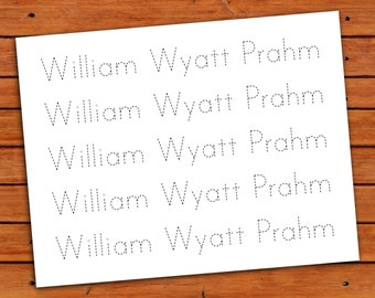 Personalized Print Name Trace Worksheet - PDF - Printable