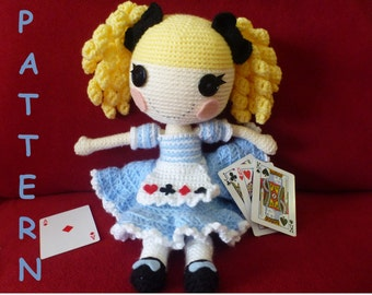Alice in LalaLoopsy Land type doll PATTERN