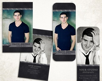 Senior Rep Card Template for Photographers - Millers and WHCC - 002 - ID136, Instant Download