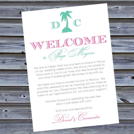 printable pdf hotel welcome bag letters for out of by