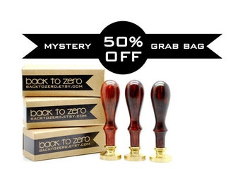 50% OFF Mystery Grab Bag - 2 sets of Wax Seal Stamp & Sealing Wax