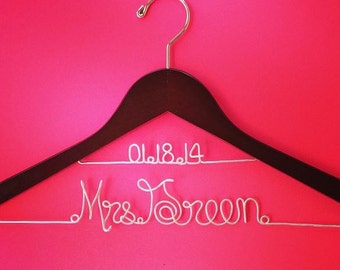 Personalized Custom two line Bridal Hanger