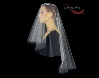 50 inch Drop Veil, Cut Edge