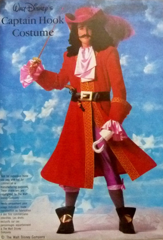 Captain hook halloween costume walt disney simplicity 7791 sewing