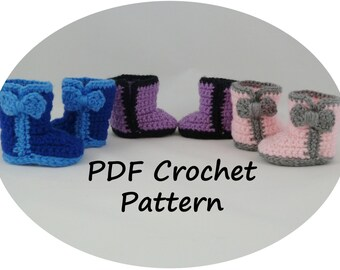 PDF CROCHET PATTERN - Fashion Boots in 3 Styles - fits American Girl Dolls - Instant Download