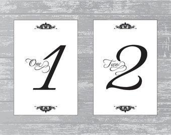 Number Names Worksheets printable numbers 1 to 10 : Items similar to 4x6 Table Numbers - DIY - Printable - Devotion on ...