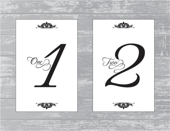 instant download traditional design wedding reception table