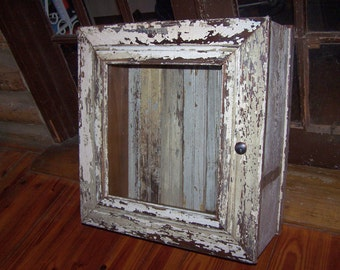 Vintage Style Cupboard, Curio, Liquor, Bathroom Cabinet, from Reclaimed Salvaged Vintage Materials