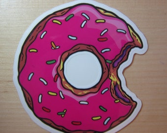 Donut Transparent Sticker, 100% Waterproof Vinyl Transparent Sticker, Pop Culture Transparent Sticker
