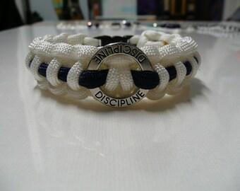 Discipline Survival Paracord Bracelet