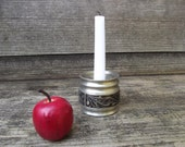 Norwegian Pewter Candle Holder