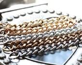 Curb Chain Bracelet - Celebrity bracelet - Chunky Large Chain Link Bracelet - Chain bracelet