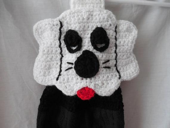 Puppy Dog Hanging Kitchen Towel - Crochet