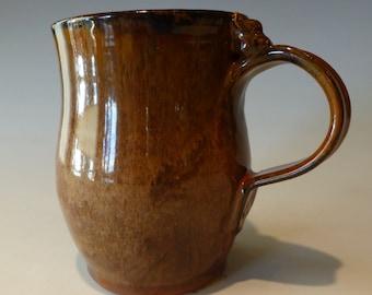 golden brown cat mug