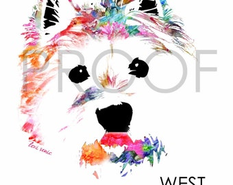 West Highland Terrier || Max the Westie || Dog Art || Watercolor