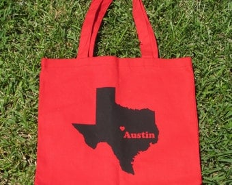 Austin Texas and Texas Forever Canvas Tote Bag