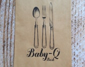 25 Baby-Q Bash Silverware Pouches