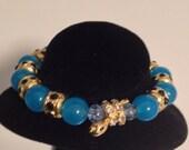 Blue rhinestone snake bracelet