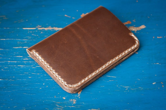 6 Pocket Vertical Wallet, Horween Chromexcel leather for front or back pocket - natural