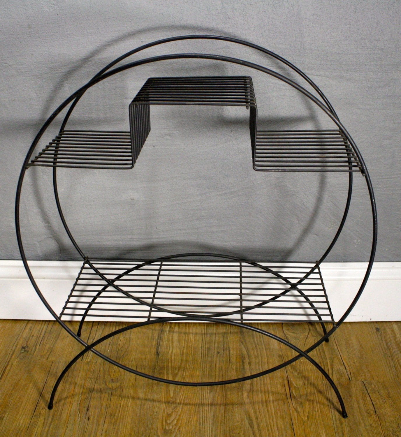Vintage Round Wire Metal Plant Stand RESERVED FOR CASEY