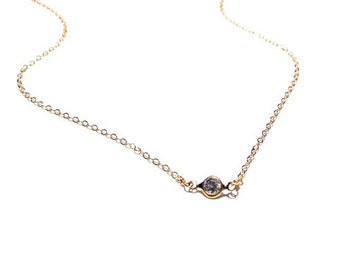 14k Gold Filled CZ Necklace, Gold Necklace, Gold Chain Necklace, Choker