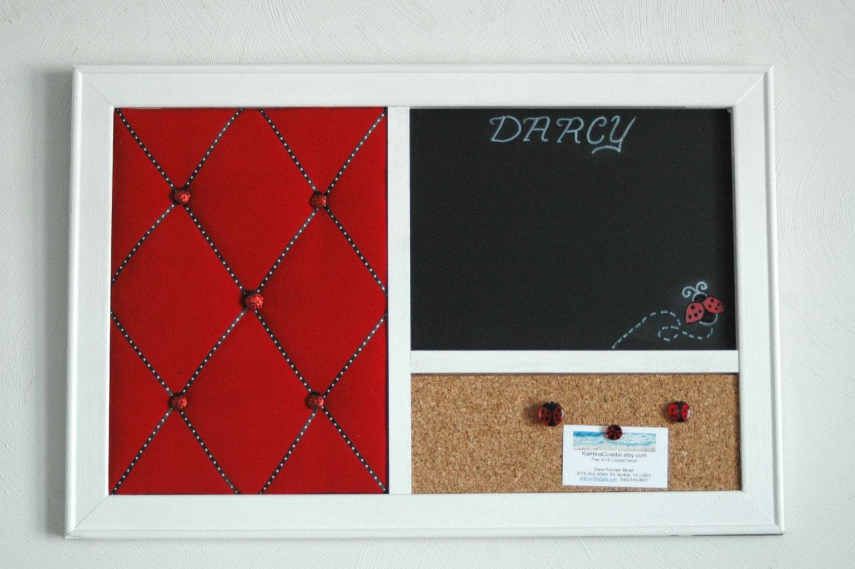 Ladybug Red French Memo Board Corkboard Amp Chalkboard Wall
