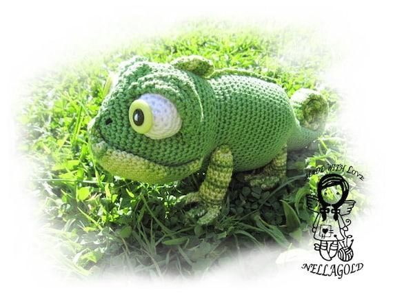 Crochet Chameleons : Crochet PATTERN 61 - Chameleon Pascal 3D