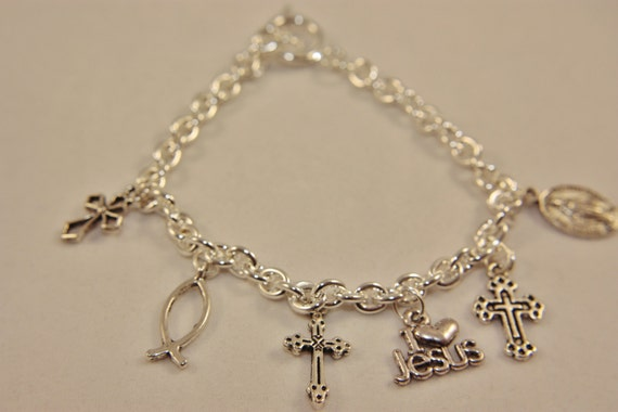 christian charm bracelet free shipping usa