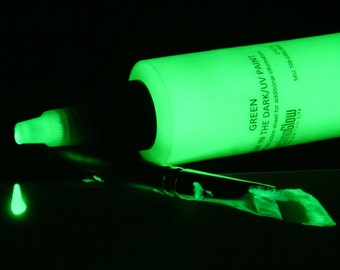Green Glow in the Dark Paint (1, 2, 4, 8 oz)