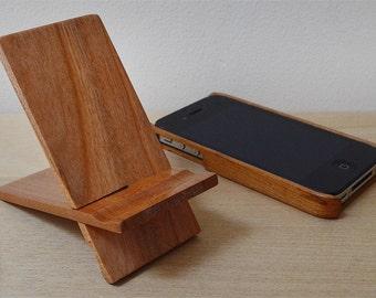 Wood Phone Stand. Cherry wood.
