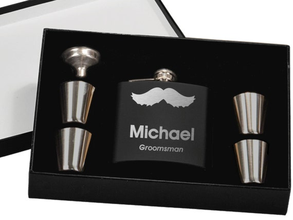 Wedding Gifts Best Man: Best Man Gift 13 Personalized Wedding Flask Sets Custom