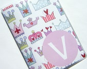 Custom Personalized Passport Cover Holder Case --  Princess Crowns