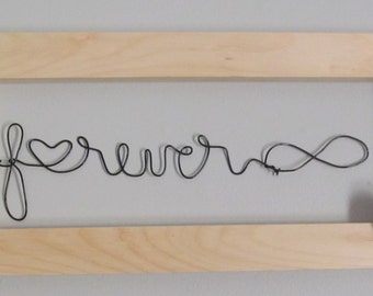 Forever Wire Word Art