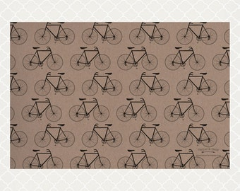 Metro Bicycle Paper Placemats